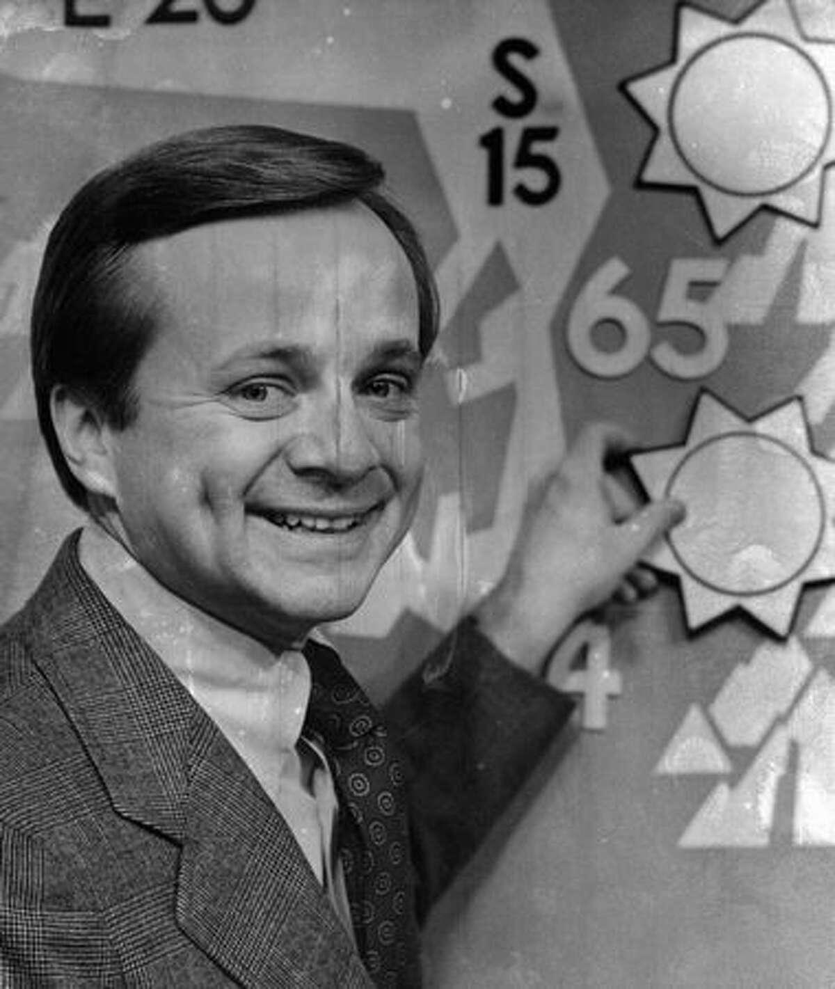Former KIRO meteorologist Harry Wappler in Nov. 1977. Wappler died April 21 at age 73. (Grant M. Haller/seattlepi.com file)