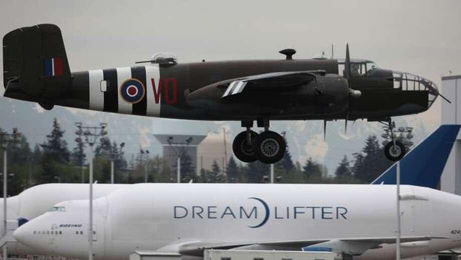 "Historic Flight Foundation: North American B-25 Mitchell bomber ""Grumpy"" Photo: Joshua Trujillo, Seattlepi.com"