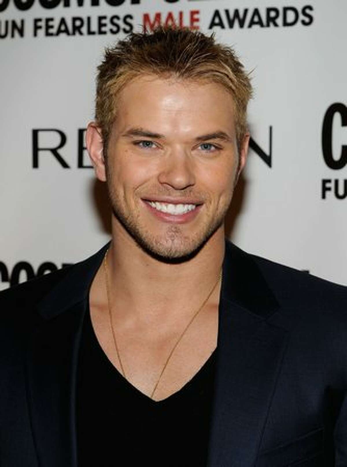 Actor Kellan Lutz arrives at Cosmopolitan magazine's Fun Fearless Males of 2010 at The Mandarin Oriental Hotel in New York on Monday, March 1, 2010.
