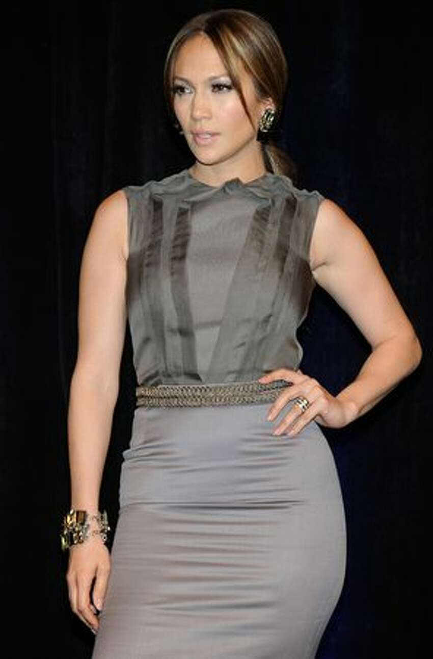 Actress/singer Jennifer Lopez arrives at the CBS Films presentation to promote her upcoming movie,