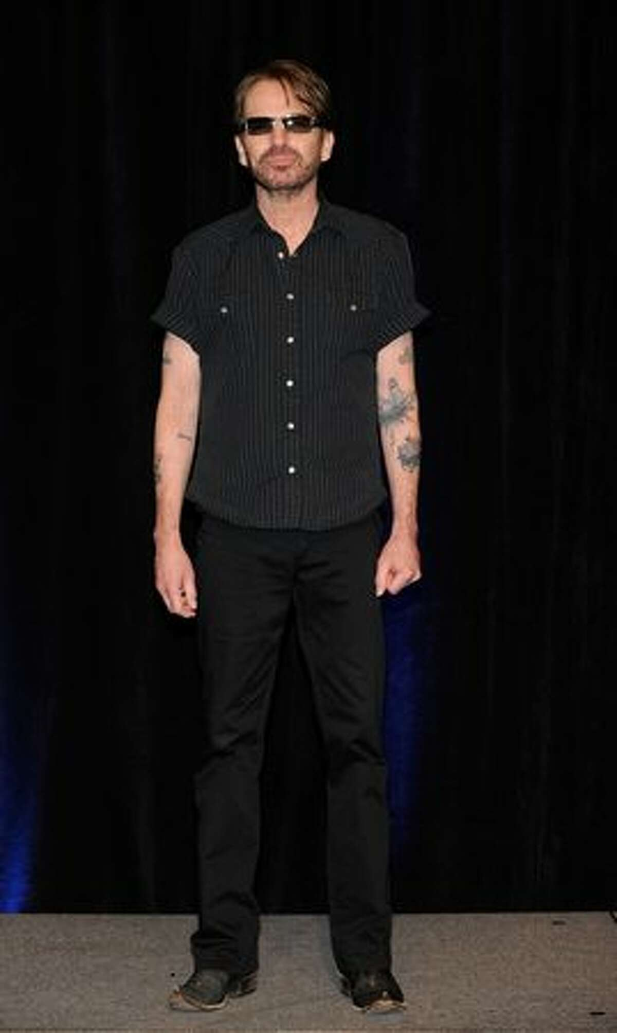 Actor Billy Bob Thornton arrives at the CBS Films presentation to promote his upcoming movie,