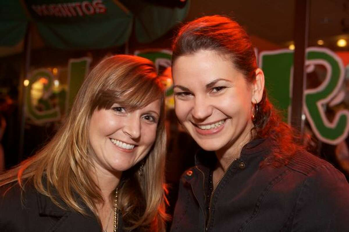 Maria Halsted and Anamaria Turlea at the Taco Guaymas Cinco de Mayo party in Green Lake.