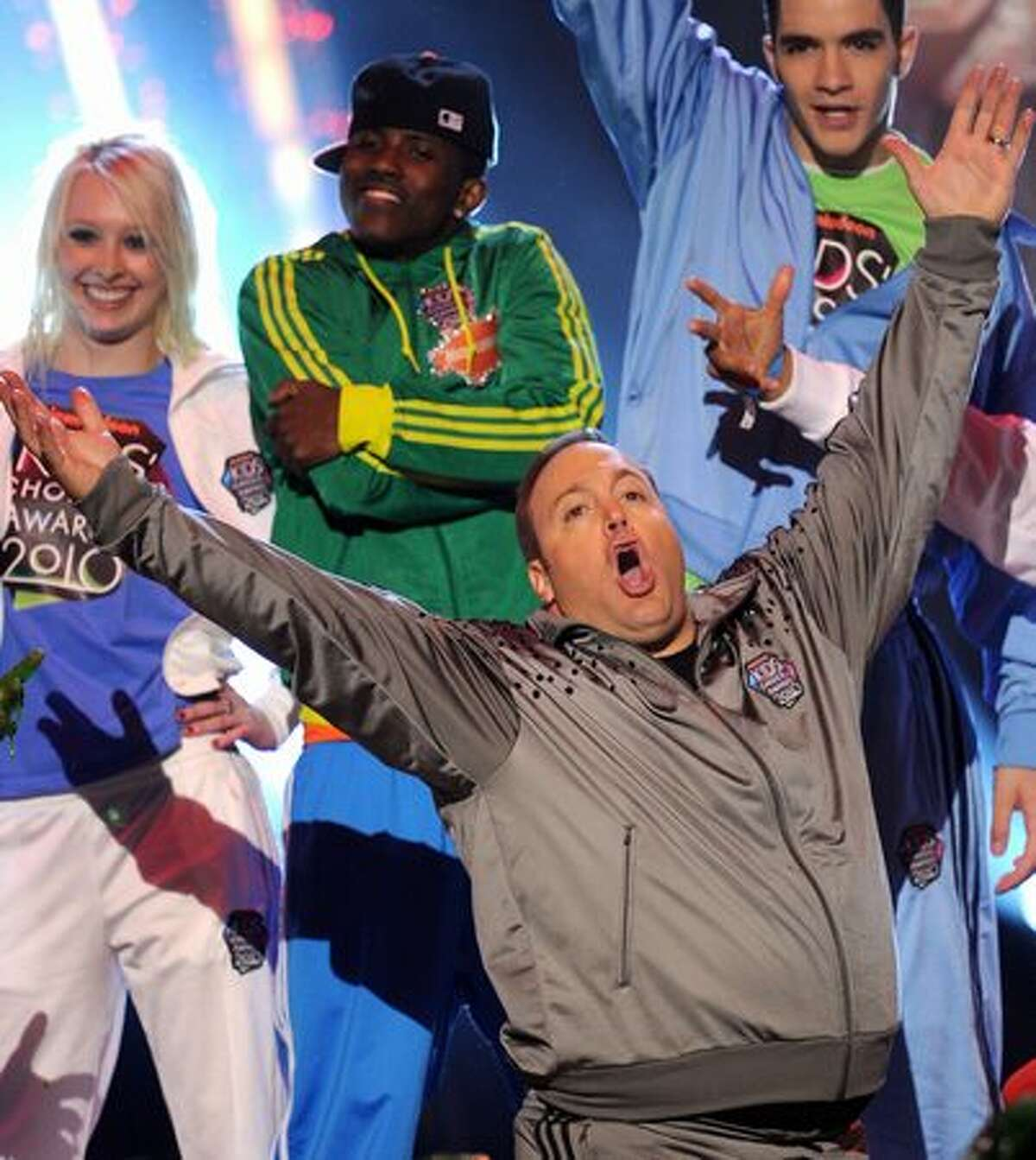 LOS ANGELES, CA - MARCH 27: Host Kevin James onstage at Nickelodeon's 23rd Annual Kids' Choice Awards held at UCLA's Pauley Pavilion on March 27, 2010 in Los Angeles, California.