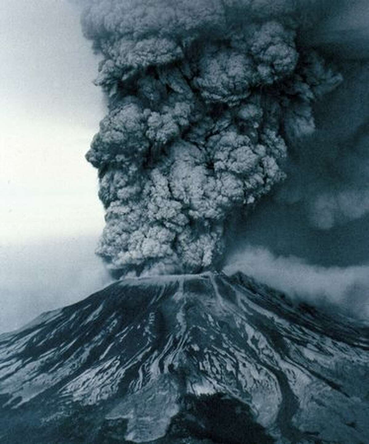May 18, 1980 Mount St. Helens erupts, causing wide-spread damage and sending ash thousands of feet into the air. (Photo by Grant M. Haller)