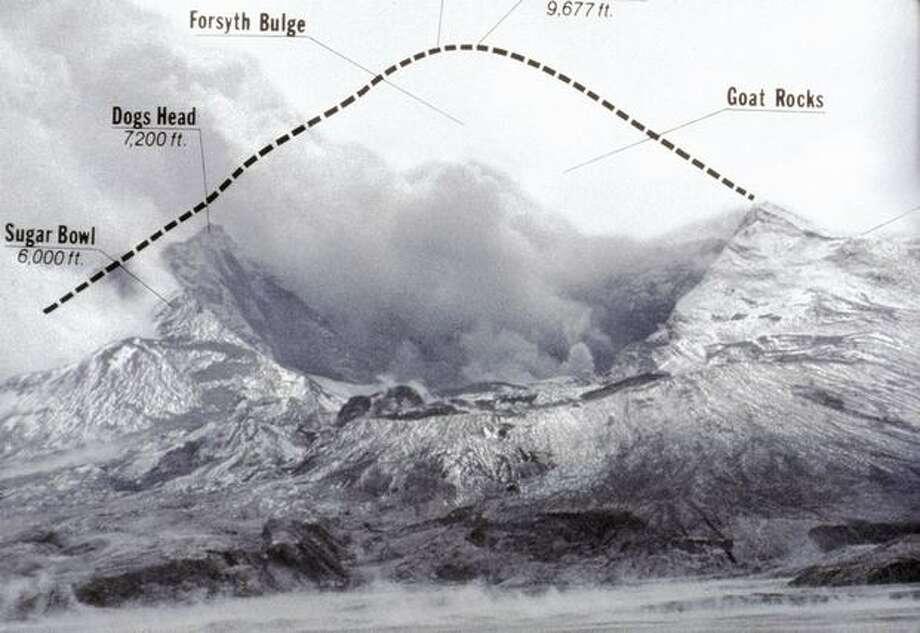 Seattle P-I illustration: Mount St. Helens, 1980 Photo: P-I File