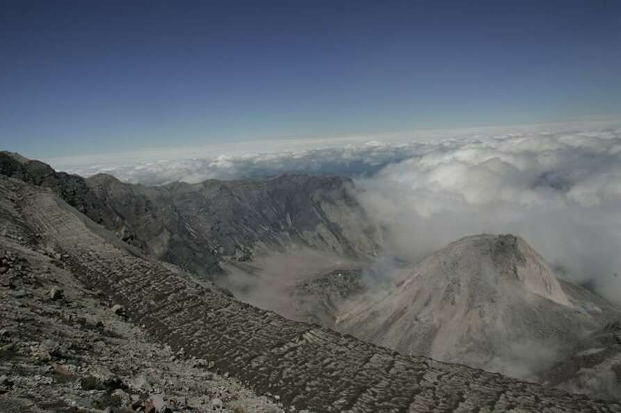 A view from the rim of Mount St. Helens.