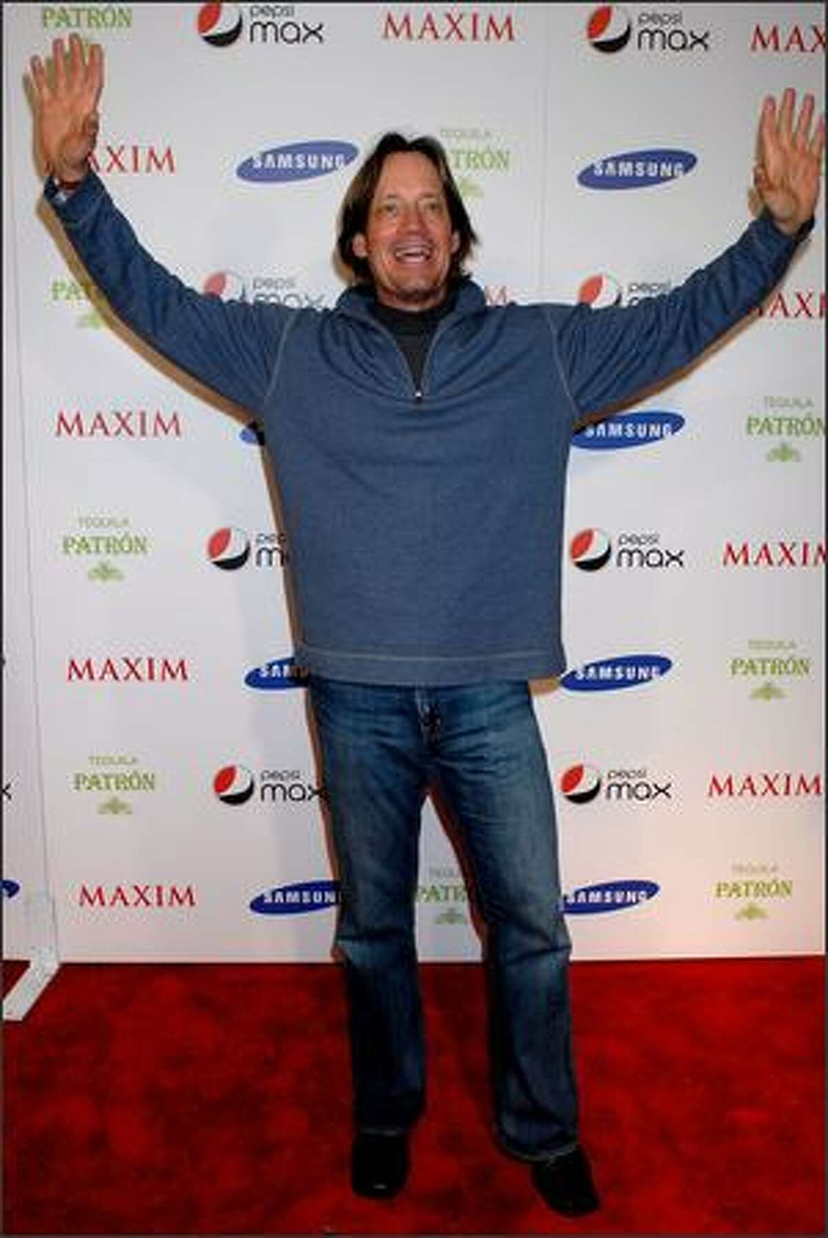 Actor Kevin Sorbo arrives for the Maxim Magazine Super Bowl XLIII party at The Ritz Ybor on Friday in Tampa, Florida.