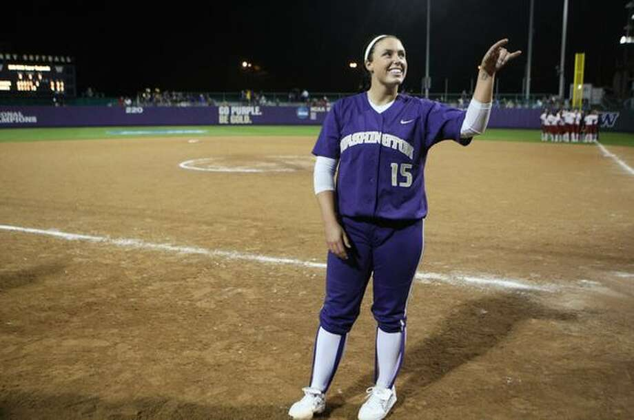 University of Washington pitcher Danielle Lawrie waves to the cheering crowd after the UW defeated the University of Oklahoma in the third in a series of games in the NCAA Super Regionals on Friday May 28, 2010 at Husky Stadium. Photo: Joshua Trujillo, Seattlepi.com