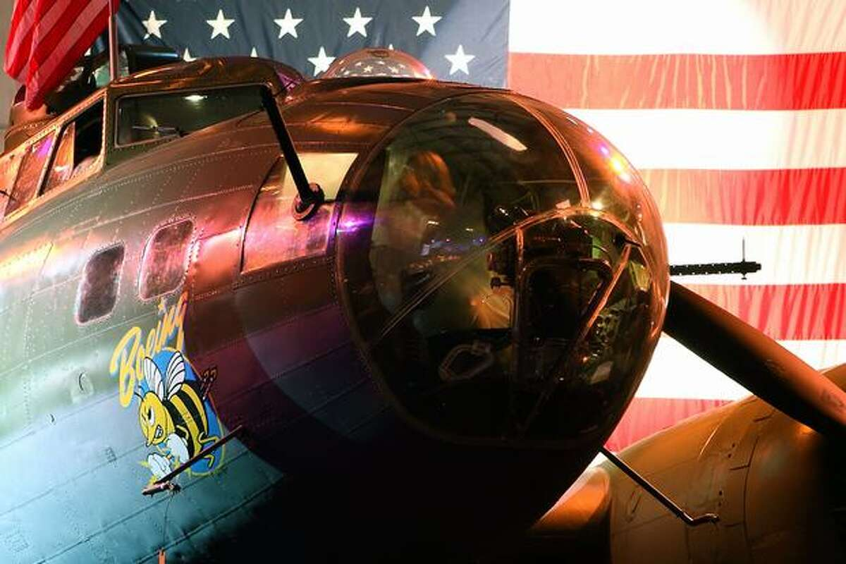 The Seattle Museum of Flight's Boeing B-17 on display at Boeing Field. (Jeremy Lindgren/NYCAviation.com)