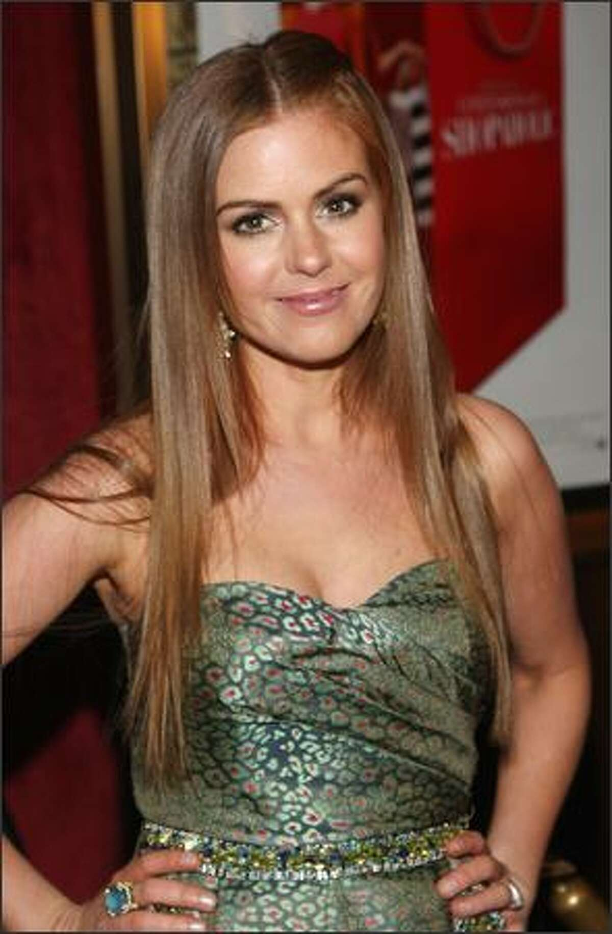 Lead actress Isla Fisher attends the premiere of
