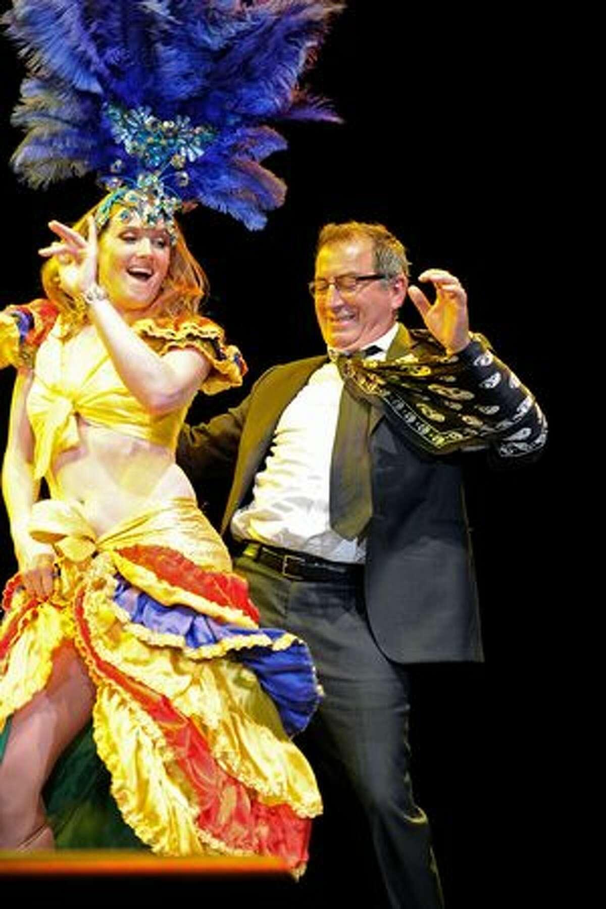 "Director Kenney Ortega dances on stage at the inaugural St. Jude Children's Hospital's ""Estrellas Por La Vida"" gala in Los Angeles, California."