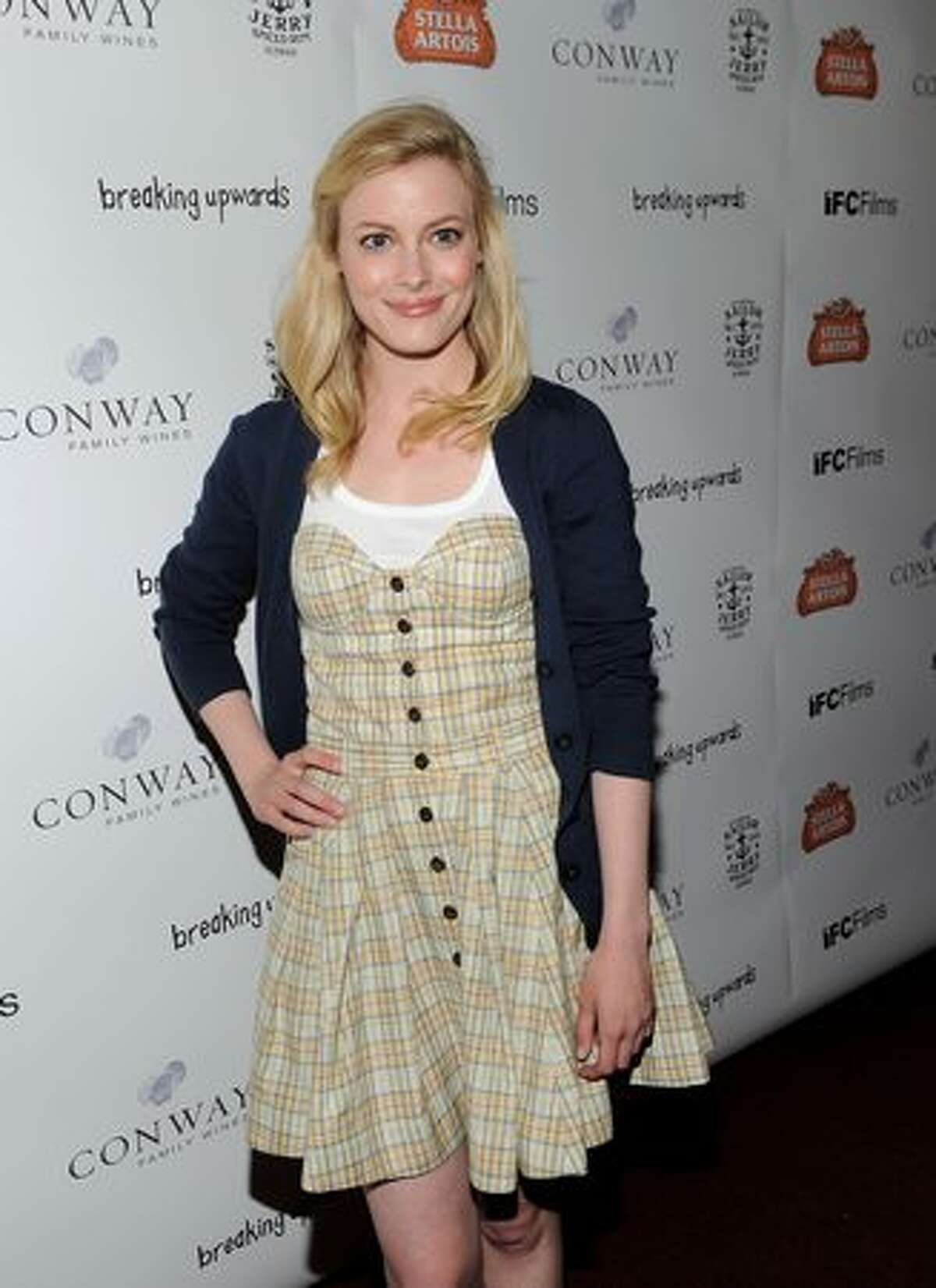 Actress Gillian Jacobs arrives at the premiere of IFC Films'