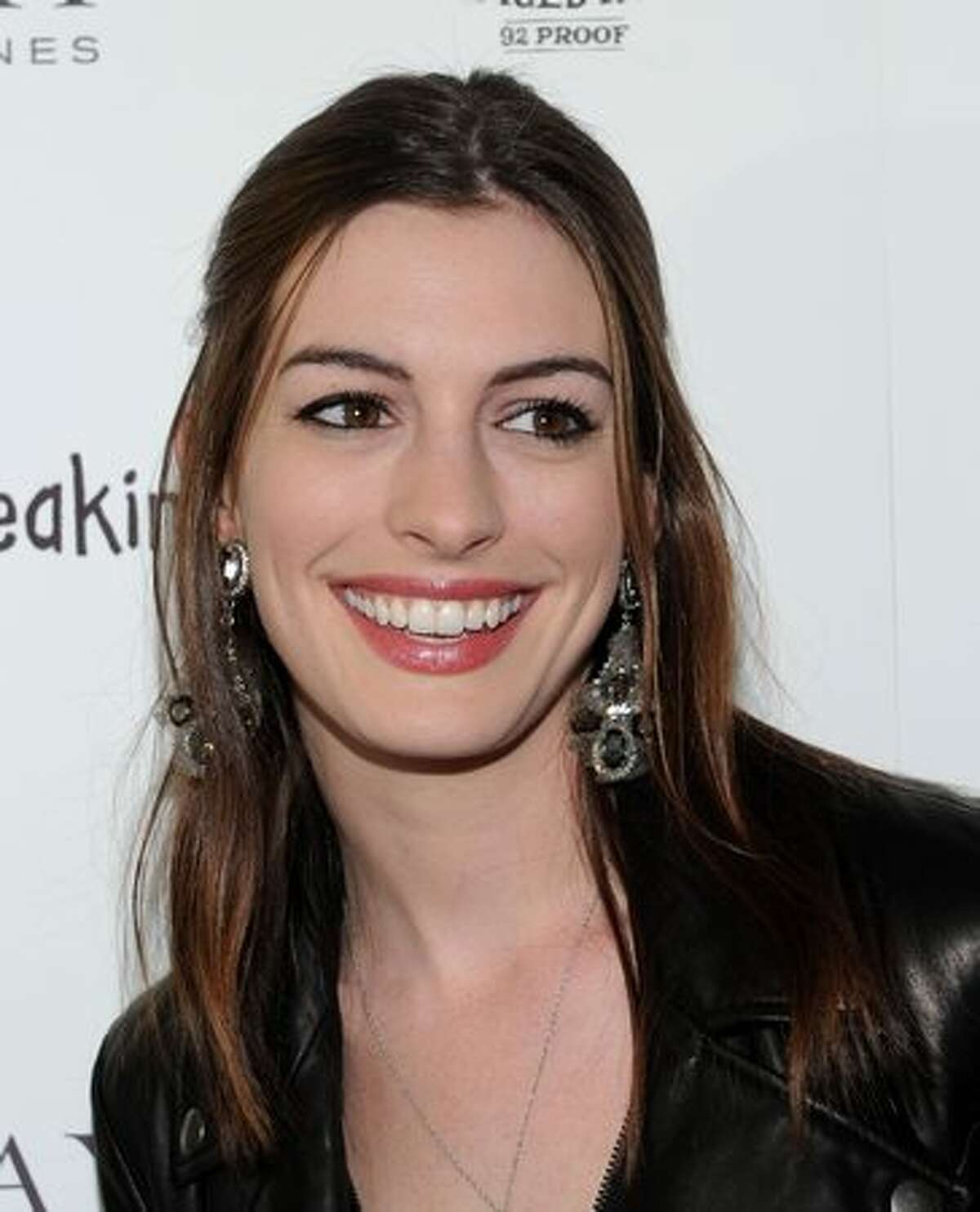 Actrss Anne Hathaway arrives at the premiere of IFC Films'