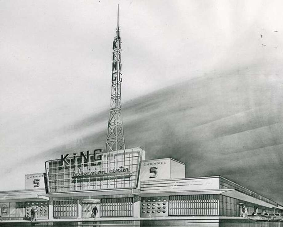 A 1952 architect's drawing of a possible home for KING. The studios are now at 333 Dexter Ave. N, a building constructed in 1947. Photo: P-I File