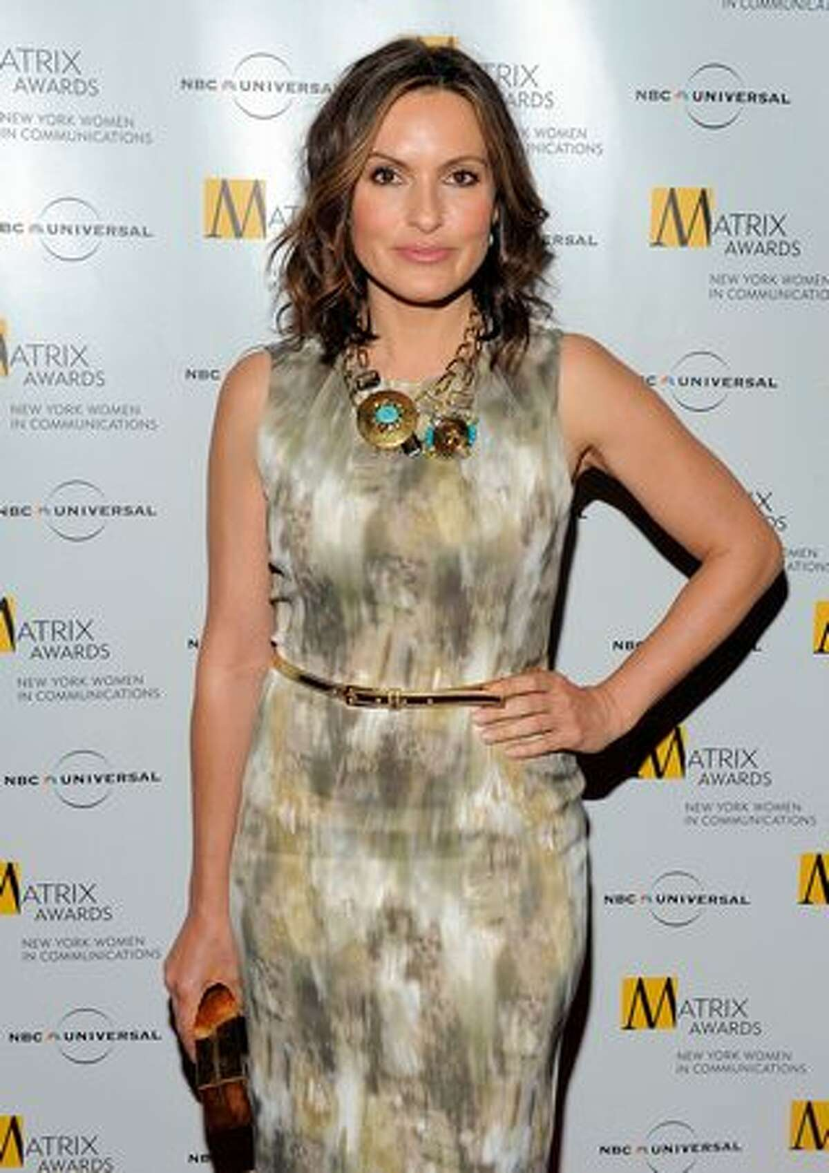 Actress Mariska Hargitay poses for photos at the 2010 Matrix Awards presented by New York Women in Communications at The Waldorf Astoria in New York City.