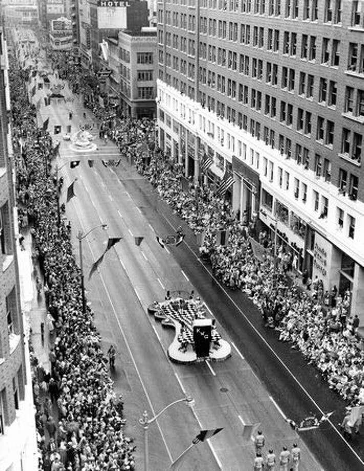 Seafair parade, 1957. Photo: P-I File