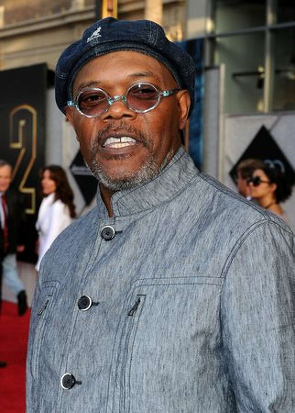 Actor Samuel L. Jackson arrives at the world premiere of Paramount Pictures and Marvel Entertainment's