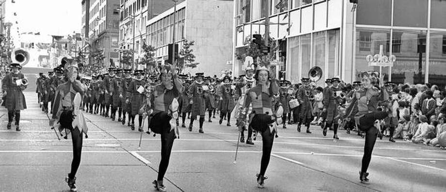The Vancouver, B.C., Junior Band at the 1966 Seafair Grande Parade. Photo: P-I File