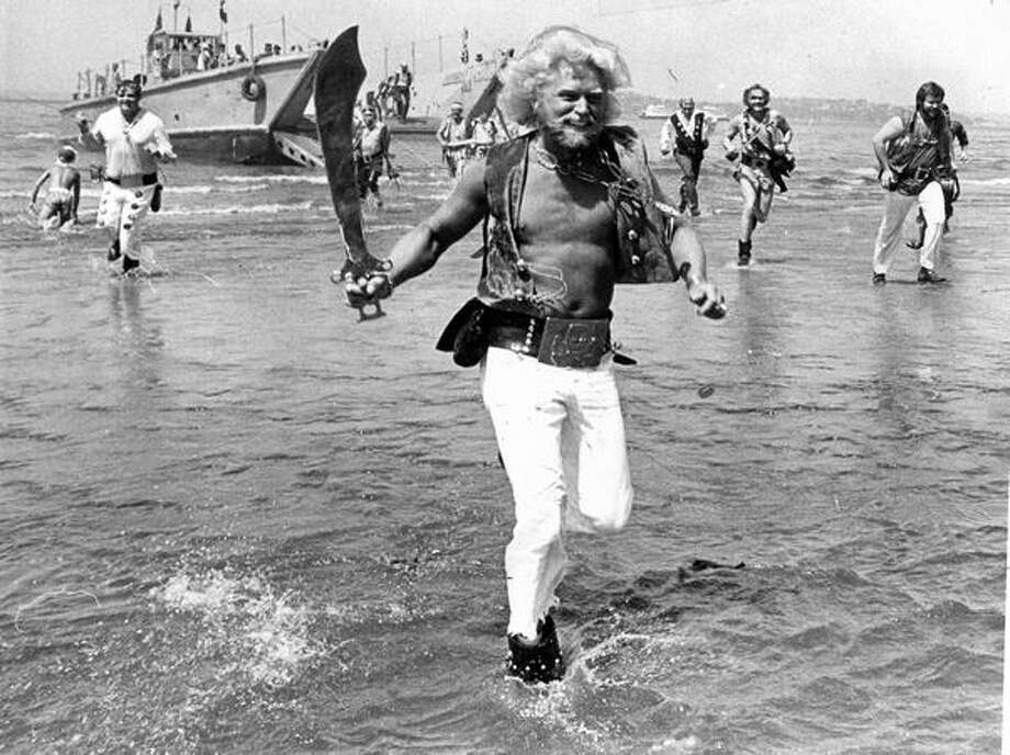 Seafair Pirates storm Alki Beach, July 1981. (Tom Brownell/Seattlepi.com file) Photo: P-I File