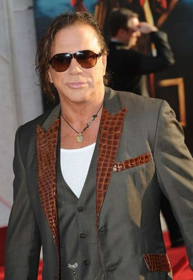 Mickey Rourke. He wouldn't say a lot and he'd mostly just sit there, but when he did speak, stand and walk around … it would just freak everyone out. Photo: Getty Images