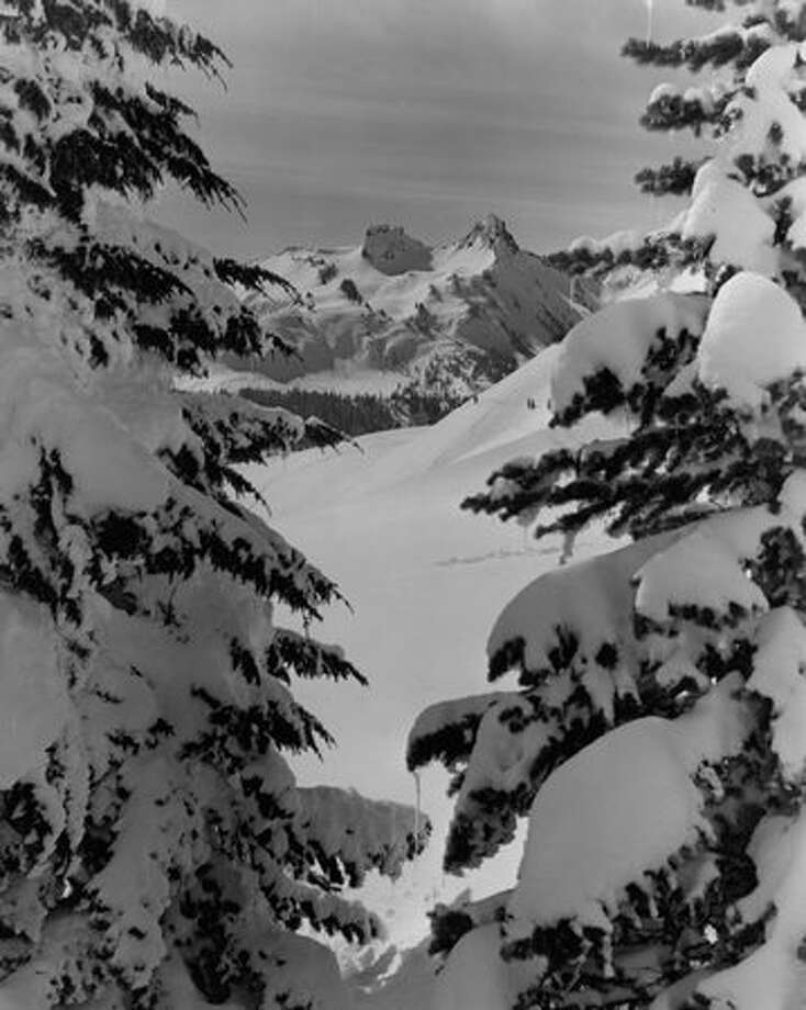 Snow on Mt. Rainier in August 1941. Photo: P-I File
