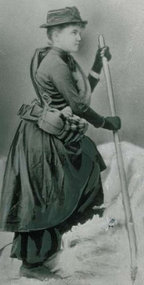 Fay Fuller was the first woman to climb Mount Rainier. She made the climb to the summit in 1890. Photo: P-I File