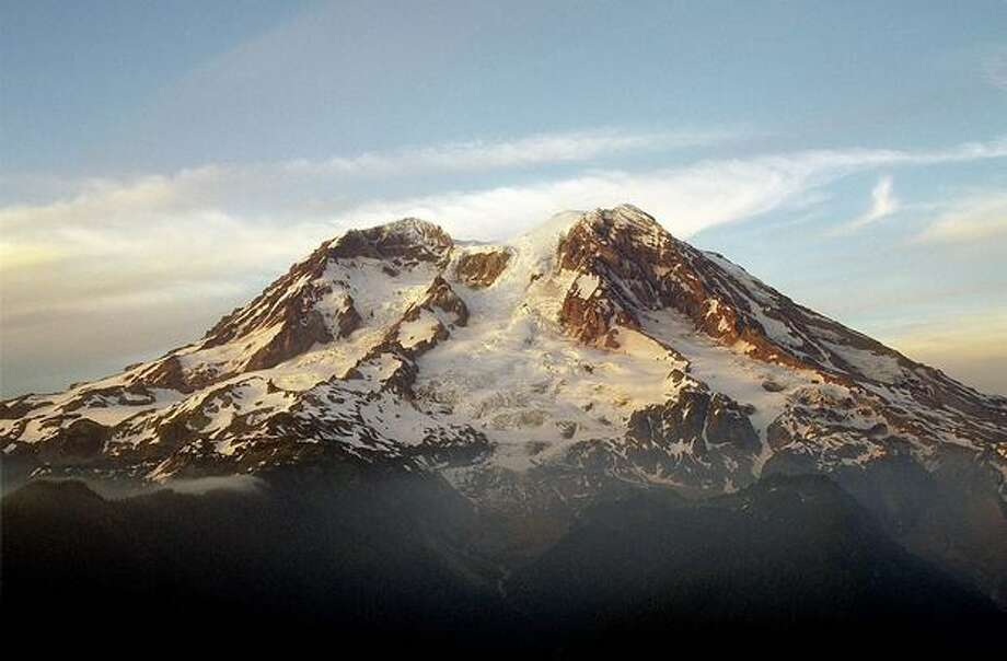Evening light on Mt. Rainier and the Tahoma Glacier from Gobblers Knob, Mount Rainier National Park. Photo: P-I File