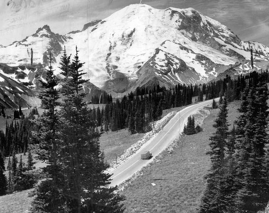 Mount Rainier in October 1972. Photo: P-I File