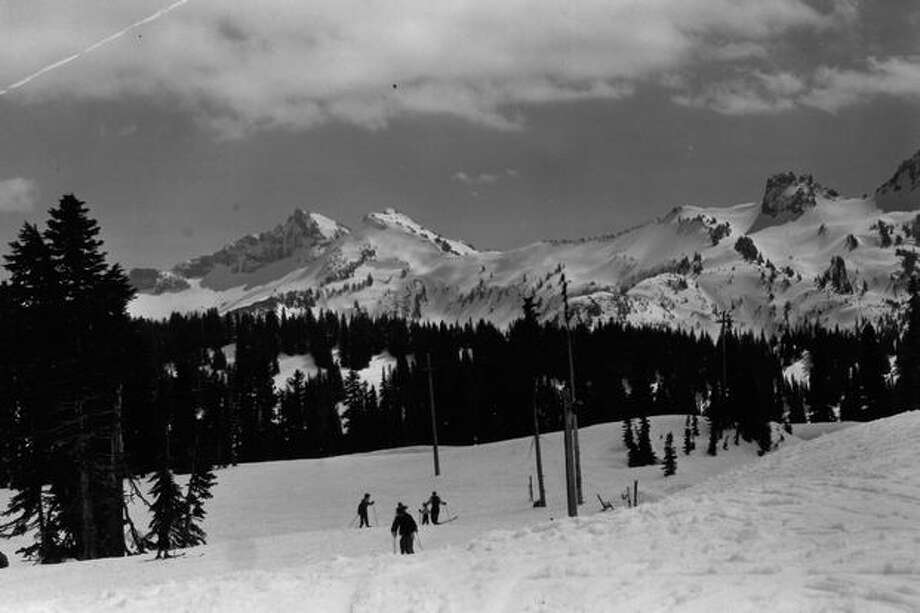 Mount Rainier National Park, April 8, 1951. The Tatoosh Range from Paradise Valley. Photo: P-I File
