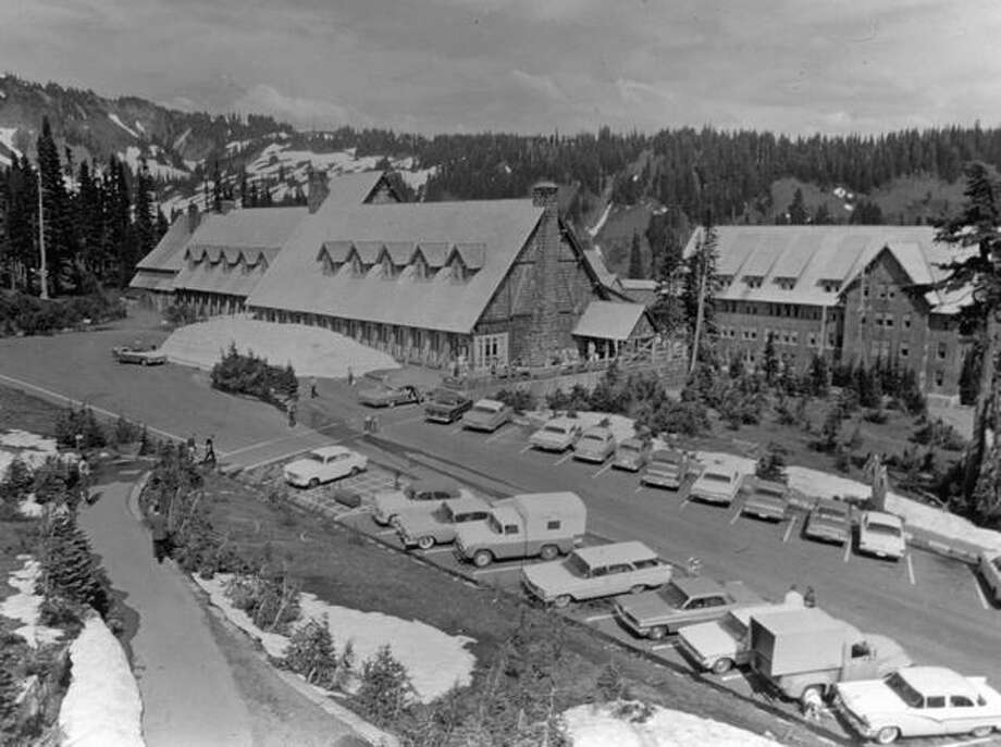 July 1965: Paradise Inn, in Mt. Rainier National Park, is in full operation, as it has been since 1916. Photo: P-I File