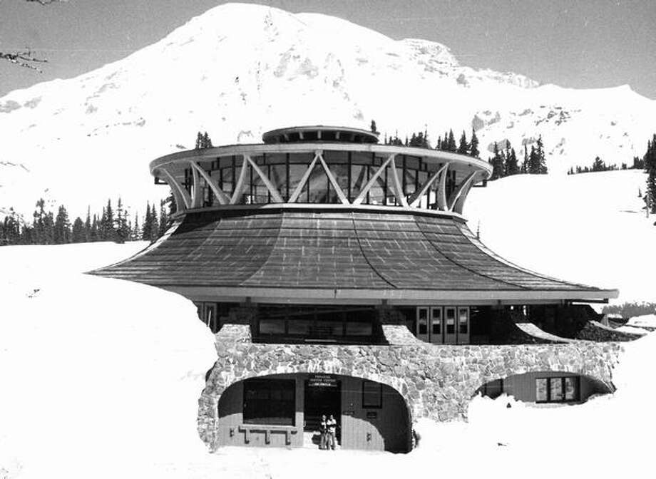 The Visitor Center on Mount Rainier, May, 1971. Photo: P-I File
