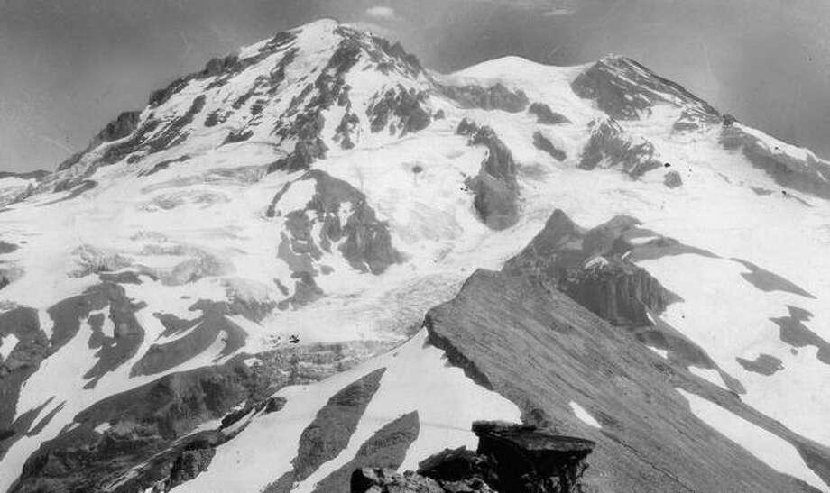 Mount Rainier in 1935. Photo: P-I File