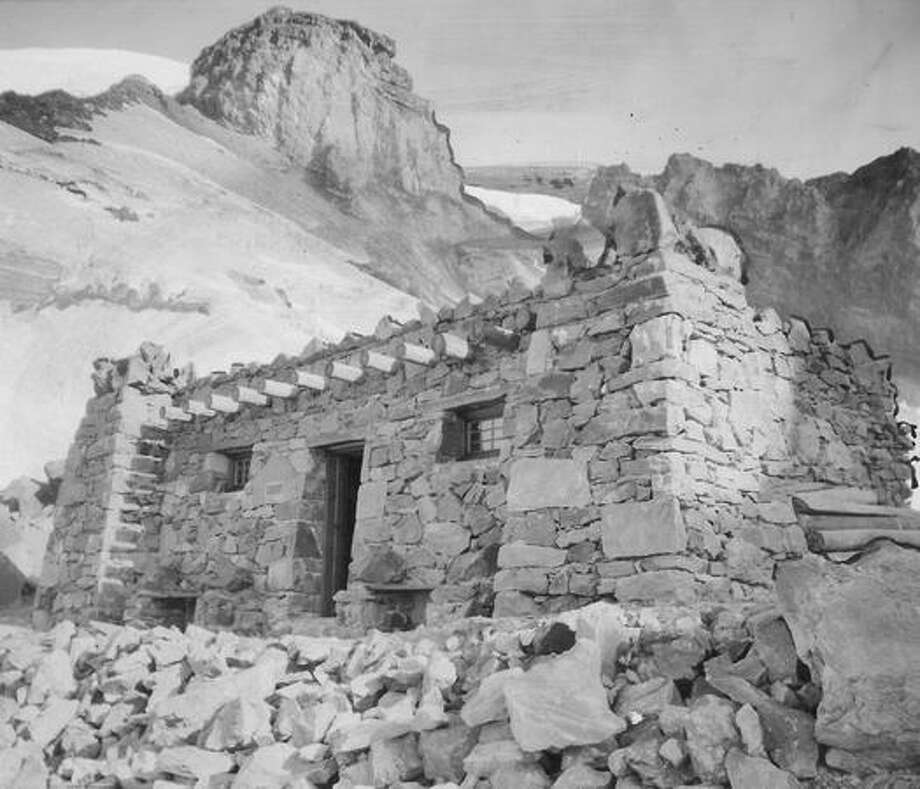 Camp Muir at Mount Rainier in August 1925. Photo: P-I File
