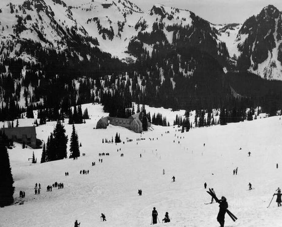 Mount Rainier in May 1934. Photo: P-I File