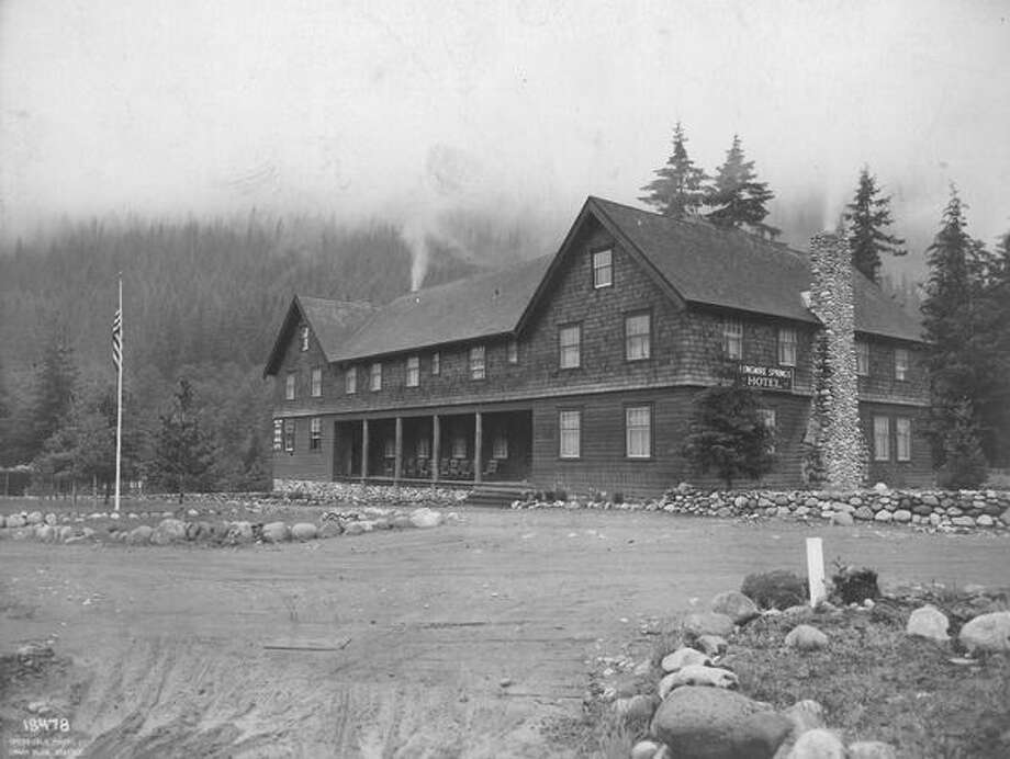 Longmire Springs Hotel in 1919. Photo: P-I File