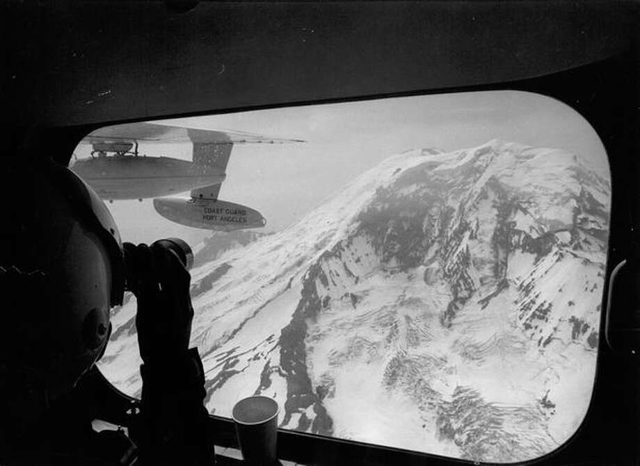 Mount Rainier in 1969. (Photo by Jim Simpkins) Photo: P-I File