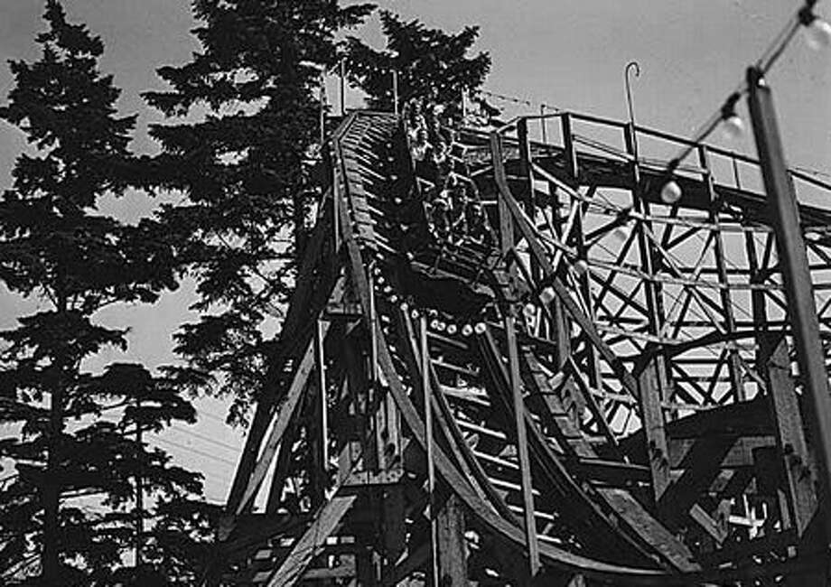 The Dipper roller coaster at Playland, 1940. (Seattlepi.com file/MOHAI collection) Photo: P-I File