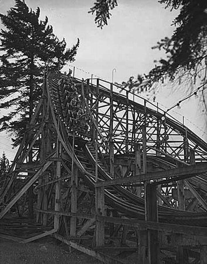 The Dipper roller coaster at Playland, 1948. (Seattlepi.com file/MOHAI collection) Photo: P-I File