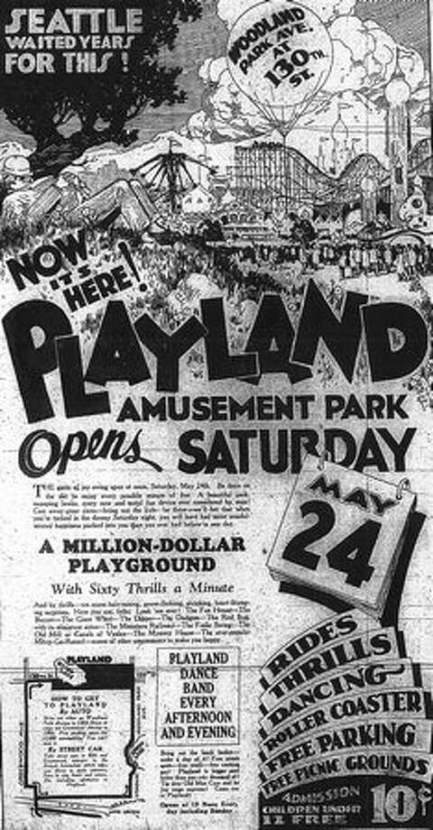 A May 23, 1930 Seattle Post-Intelligencer ad for the opening of Playland. Photo: P-I File