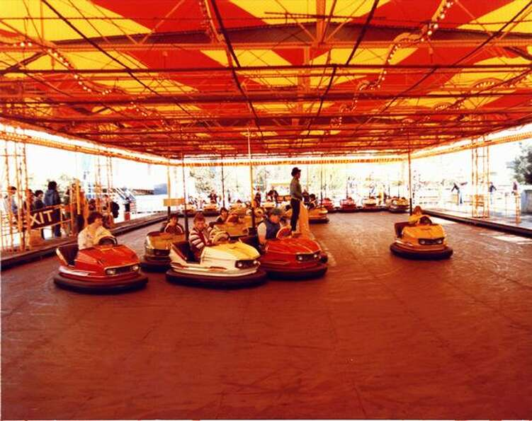 Fun Forest bumper cars, circa 1970. (Seattle Mu