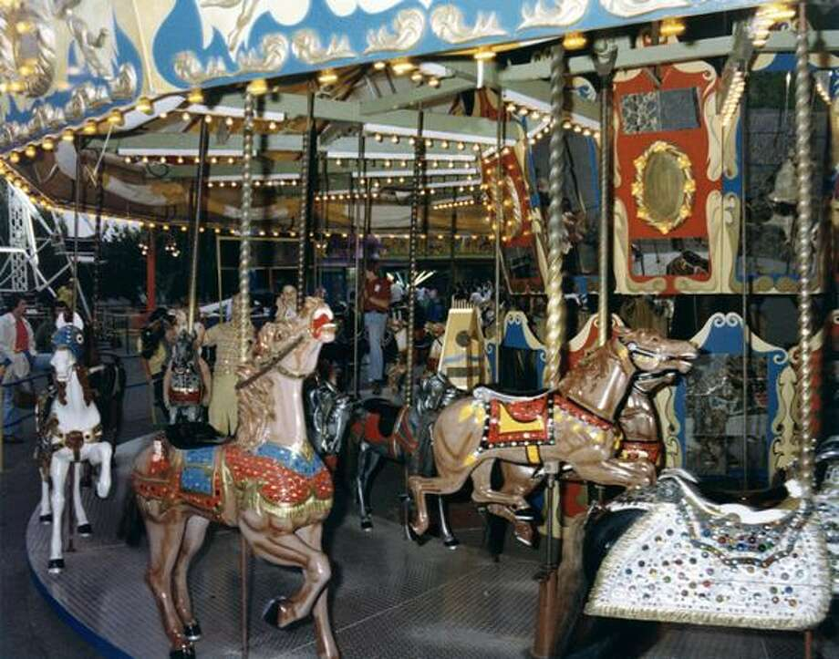 The Fun Forest carousel, circa 1970. (Seattle Municipal Archives/73187) Photo: P-I File