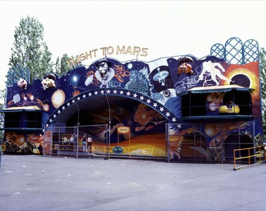 The Flight to Mars at the Fun Forest, circa 1970. (Seattle Municipal Archives/73204) Photo: P-I File