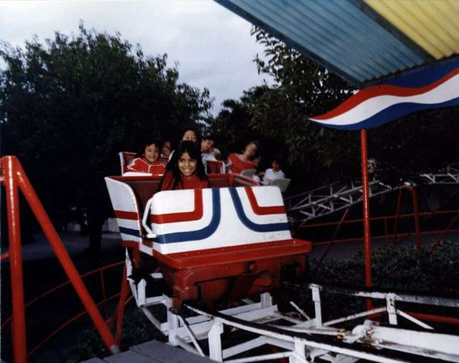 The Kiddieland little roller coaster at the Fun Forest, circa 1970. (Seattle Municipal Archives/73211) Photo: P-I File