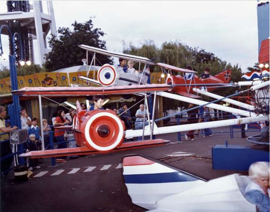 The Red Baron ride at the Fun Forest, circa 1970. (Seattle Municipal Archives/73184) Photo: P-I File