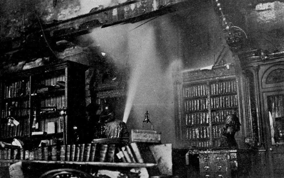 Interior of the State Capitol following the March 29, 1911 fire in Albany. (Courtesy NYS Library)