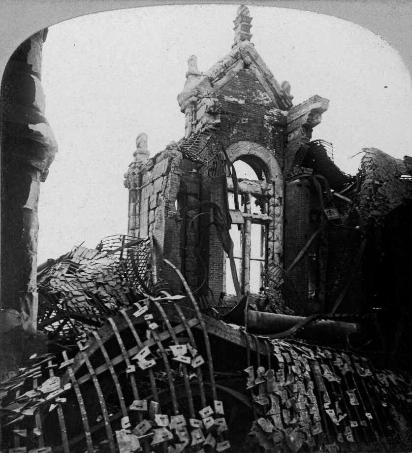 Aftermath of the March 29, 1911 State Capitol fire in Albany. (Courtesy NYS Library)