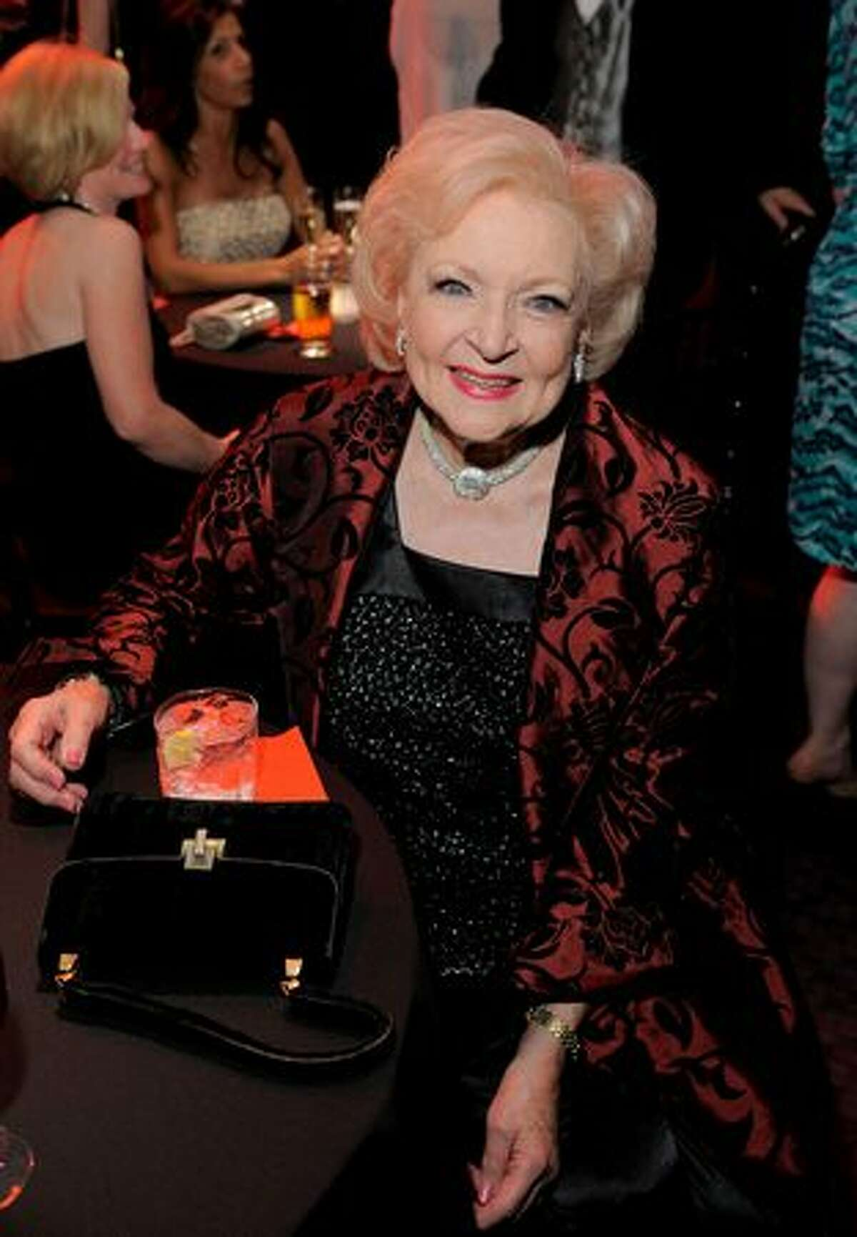 Actress Betty White attends.