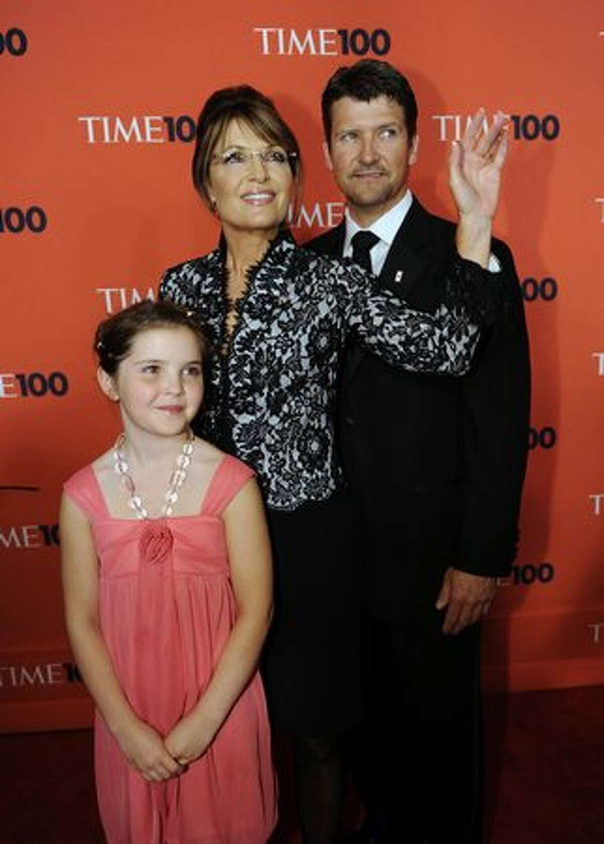 Todd and Sarah Palin and their daughter Piper attend.
