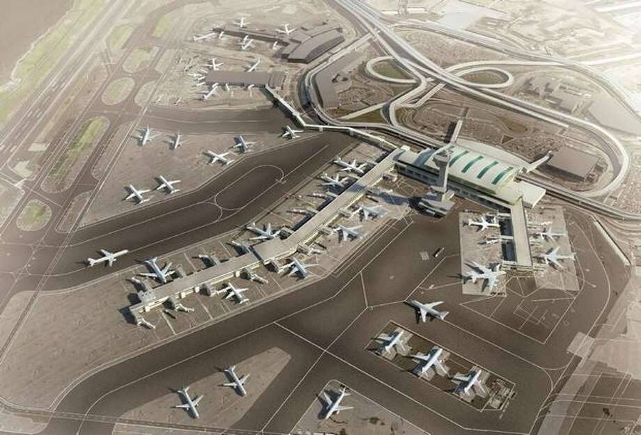 Future exterior view of JFK Terminals 2, 3 and 4. Photo: Delta Air Lines