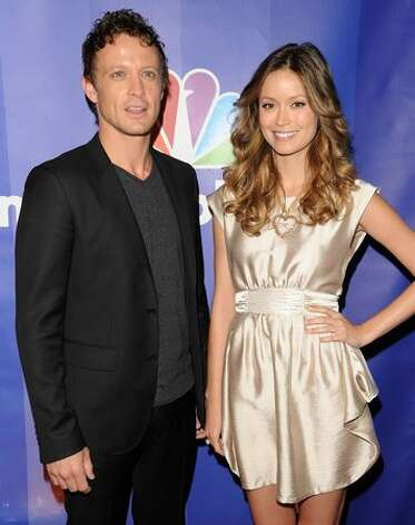 "Actors David Lyons and Summer Glau attend the 2010 NBC ""upfront"" presentation. Photo: Getty Images"